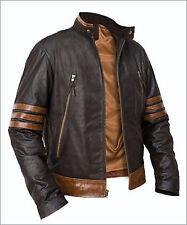 Xmen wolverine origines bomber style marron en cuir véritable veste taille s m l xl 2XL