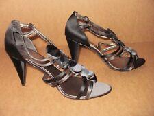John Lewis Womens Rosemary Stiletto Heel Sandals, Blk/Grey Size UK 8