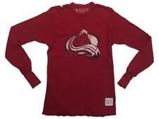 Colorado Avalanche Retro Brand Red Waffle Long Sleeve Pullover Sweatshirt