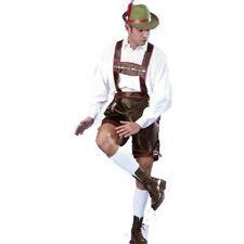 German Adult Male Lederhosen Fancy Dress Costume Oktoberfest Beer Bavarian Man