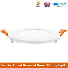 3W/6W WARM WHITE LED ULTRASLIM ROUND RECESSED CEILING FLAT PANEL DOWNLIGHT 3000k