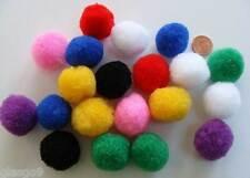 20 pompons 25mm peluches polyester MIX ou COULEURS AU CHOIX loisirs créatifs