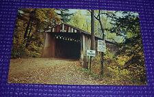 Plastichrome Colourpicture Postcard Windsor Mills Bridge Ashtabula County Ohio