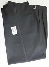 New Classic Black Wool Formal Tuxedo Trousers Tux Pants Adjustable Waist Pant
