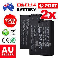2x EN-EL14 1500mAh Backup Battery For Nikon Camera D3100 D3200 D5100 P7000