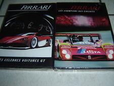 6964 // FERRARI LES CHAMPIONS DES CIRCUITS + LES CELEBRES VOITURES 2 DVD NEUF
