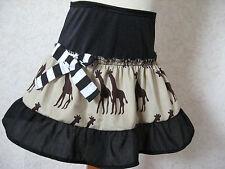 Holiday Giraffe Skirt Baby Girls Black Brown Gift Rock Retro Alternative party