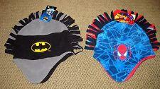 Super Heros SPIDER-MAN BATMAN FLEECE MOHAWK Toddler Hat One Size Fits Most