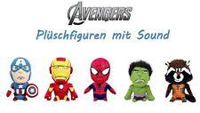 Marvel Avengers Plüschfiguren mit Sound (24cm) Captain America Ironman Spiderman