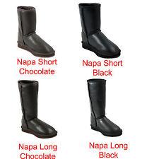 Premium UGG Napa Short Australia Sheepskin UGG Boots - Napa Short Choco Black