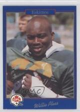 1991 Jogo CFL #20 Willie Pless Edmonton Eskimos (CFL) Rookie Football Card