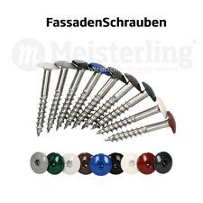 Meisterling® FassadenSchrauben 25 - 55 mm in V4a / V2a Edelstahl / Inox gehärtet