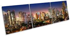Bangkok Sukhumvit Skyline Picture CANVAS WALL ART Triple Print