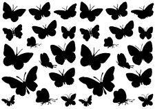 kit Stickers Autocollant Mural - 30 Papillons - 20x57 cm - Réf: A038