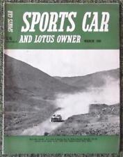 Sports CAR & LOTUS proprietario RIVISTA MARZO 1961 (FORMULA JUNIOR Lotus, Merc 220SE)