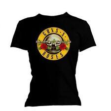 Guns N Roses T Shirt Classic Logo Skinny Fit Tee Womens Ladies Official Licensed