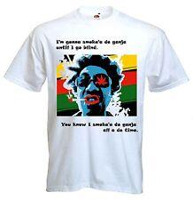 GANJA Uomo T-Shirt-Reggae Rasta rastafariana BOB MARLEY CANNABIS Festival