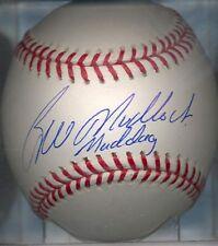 Bill Madlock Maddog Los Angeles Dodgers OML Signed Baseball COA Chicago Cubs