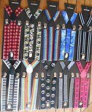 bretelles réglables  jean,piano, peace and love,gris brillant,multicolore,tartan