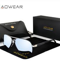 Gafas de Sol Estilo Clásico HD para Hombre Lentes Polarizados Moda Espejo UV400
