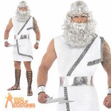 Zeus Costume Ancient Greek Roman Toga God Myth Mens Fancy Dress Outfit