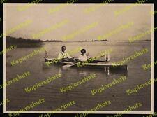 orig. Foto Faltboot Wiking Wasserwandern Paddel Chiemsee Gstadt Fraueninsel 1926