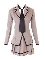 mn-47 Koro Sensei 3-e Kaede Kayano Gris Uniforme escolar Traje Cosplay disfraz