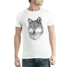 Wolf Drawing Mens T-shirt XS-5XL