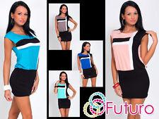 Elegant Women's Mini Dress Sleeveless Boat Neck Tunic Size 8-12 8113