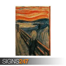 El grito Edvard Munch (1228) cuadro arte cartel impresión de foto A0 A1 A2 A3 A4