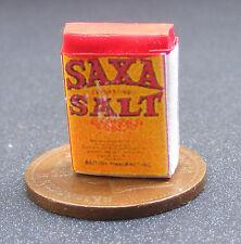 Grand vieux SAXA 1,12 sel de table boîte maison poupées miniature cuisine accessoire alimentaire