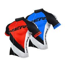 Merida Reflective Cycling Jersey Men's Bike Bicycle Cycle MTB Shirts Red / Blue