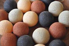 20er Lichterkette Bälle Baumwolle Kupfer Apricot Braun Creme Cotton ball lights