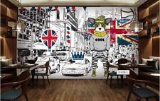 3D Chien Police 12 Photo Papier Peint en Autocollant Murale Plafond Chambre Art