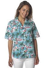 Benny's Womens Flamingos Hawaiian Shirt