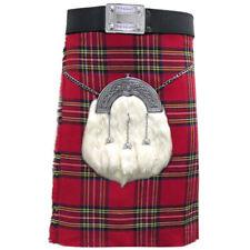 Mens Tartanista Deluxe Royal Stewart Tartan Scottish 16oz 8 Yard Kilt 30-54