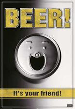 Bier Beer - Is your Friend - Poster Druck - Größe 61x91,5 cm