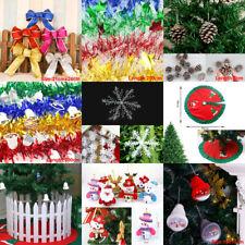 Ruban Flocons Tinsel Guirlande foncé Arbre de Noël Fête Décoration Maison Décor