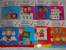 I bambini imparare & PLAY BOOK età 3-7 Numeri Alfabeto Forme di scrittura lettura matematica