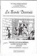 Catalogue Vente aux Enchères BD 3 Juillet 1995 DROUOT