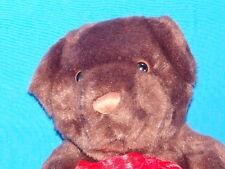 PEEKABOO I SEE YOU  PLANE RED BOW MANGO TEDDY BEAR PALS PLUSH STUFFED ANIMAL