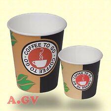 Kaffeebecher Coffee to go Becher 100ml 200ml Hartpapierbecher 0,1 0,2 Pappbecher