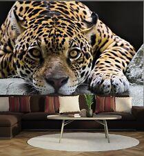 Mural de Pared Foto Wallpaper Jaguar Wild Cat Pared Arte Habitación Decoración de la sala de estar