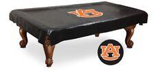 Auburn Pool Table Cover w/ Tigers Logo - Black Vinyl