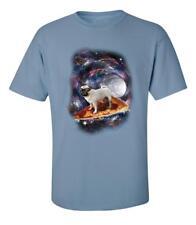 Funny Flying Pizza Pug Galaxy T-Shirt
