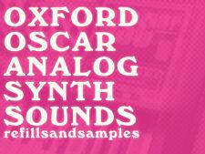 Oxford Oscar Analog Synth Samples Reason NNXT Refill Wav Soundfont sf2 Exs 24 CD