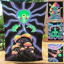 WANDBEHANG backdrop UV active flouro goa psy deko deco trance rave banner tuch