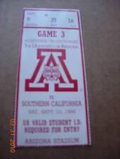 S. California vs. U of AZ Ticket 9-23-1995