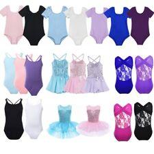 Child Girls Ballet Dancing Leotard Dress Tutu Skirt Ballerina Dancewear Costumes