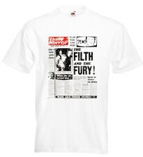 Sex Pistols Bill Grundy T Shirt Newspaper Headlines The Filth and the Fury Punk